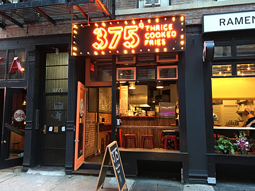 375° Thrice Cooked Fries on the Lower East Side, nyc