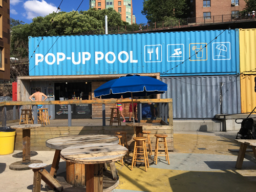 Pop Up Pool at Brooklyn Bridge Park, Brooklyn Heights, NYC