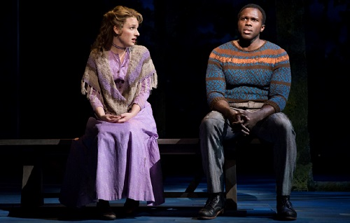 Jessie Mueller and Joshua Henry in CAROUSEL, Broadway, NYC, 2018