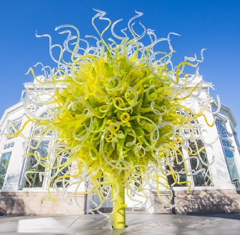 Garden Exhibition by Artist Dale Chihuly at NY Botanical Garden