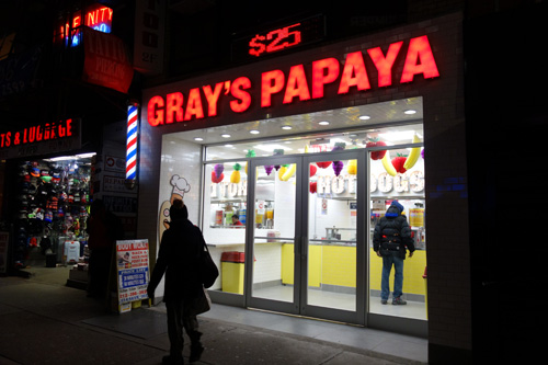 Gray's Papaya, Hot Dogs, Times Square, NYC