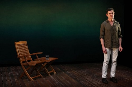 "Questions of identity and self-identity abound throughout ""Harry Clarke,"" David Cale's absorbing drama now at the Vineyard Theater."