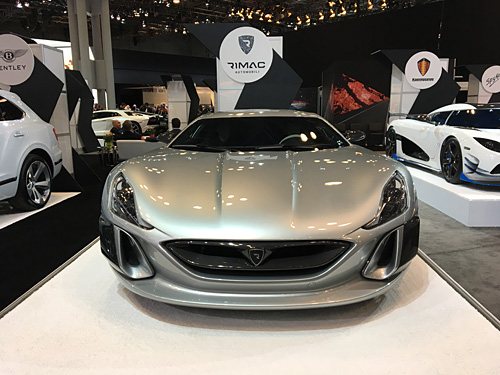 New York International Auto Show, 2017, NYC Rimac Concept One