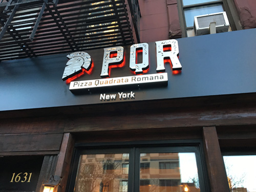 PQR Pizza, Roman, Upper ast Side, NYC