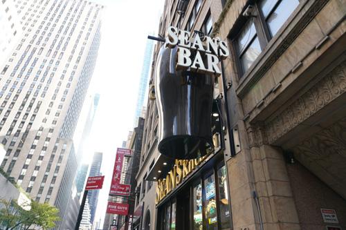 Sean's Bar & Kitchen, near Rockefeller Center, NYC