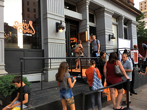 Spotted Cheetah Cheetos Pop Up, Anne Burrell, Tribeca, NYC