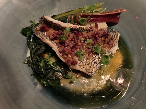The Fulton, Jean-Georges, Pier 17, NYC, Black Sea Bass