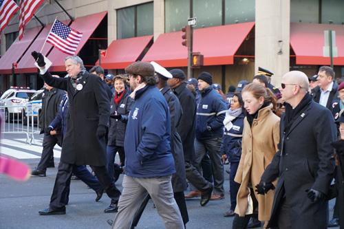 2017 Veteran's Day Parade, NYC, Mayor De Blasio