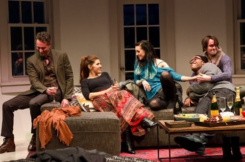 How to Transcend a Happy Marriage, Off Broadway, NYC, starring Marisa Tomei, Robin Weigert and Lena Hall