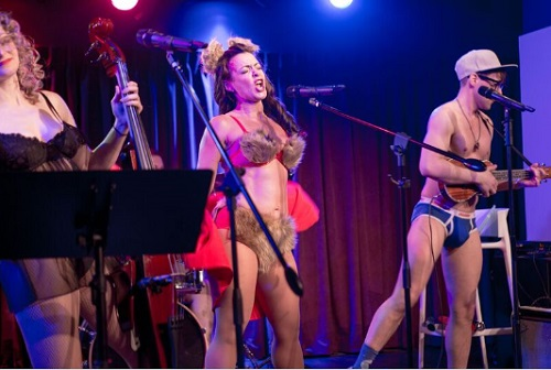 NYC's Wildest Brunch, Underwear-clad performers, Green Room 42, NYC