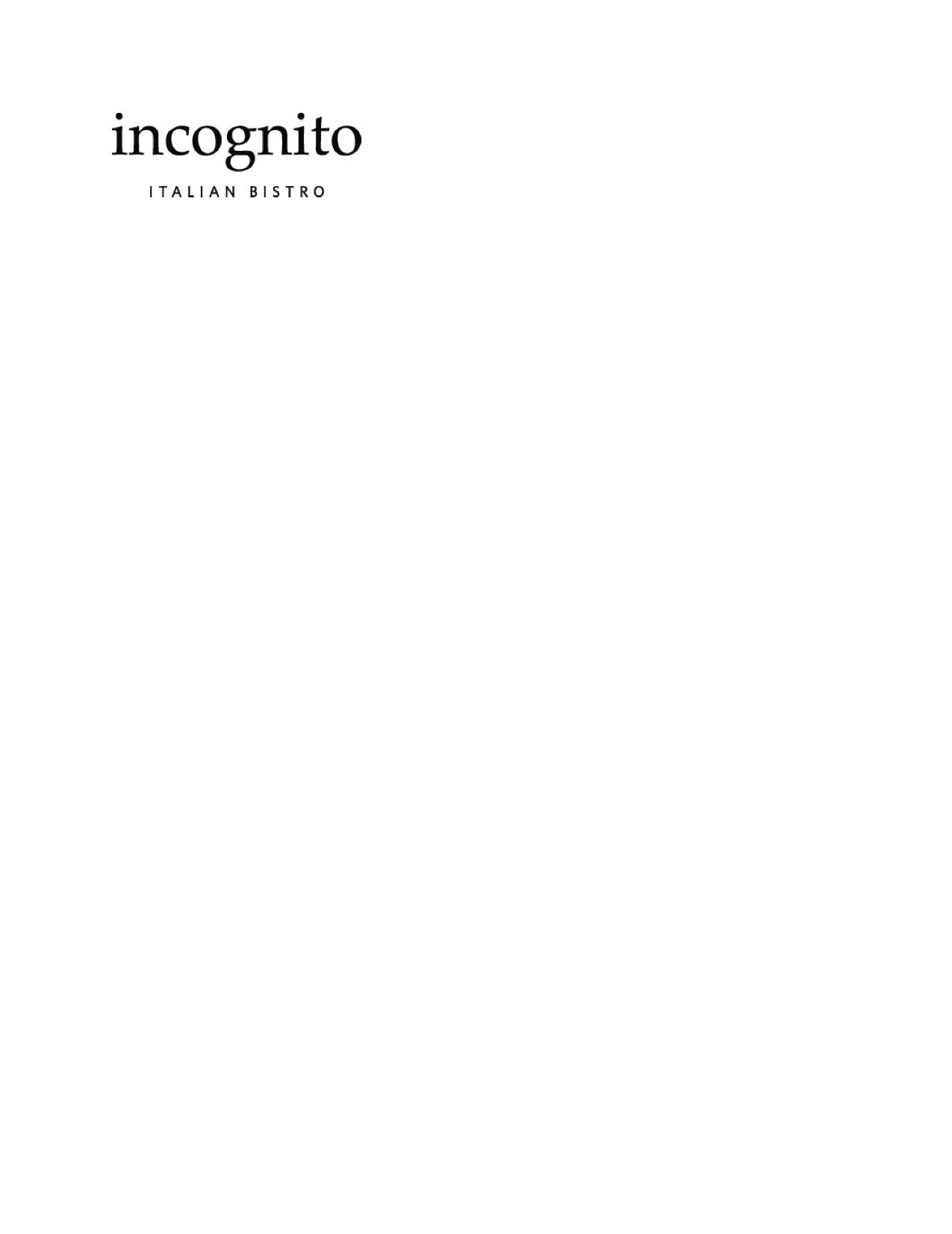 Incognito Bistro