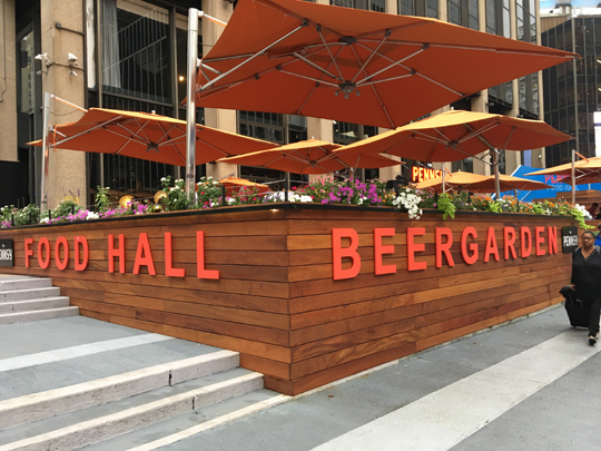 Pennsy Beer Garden New York City Nyc Reviews Menus Hours