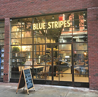 Blue Stripes Cacao Shop