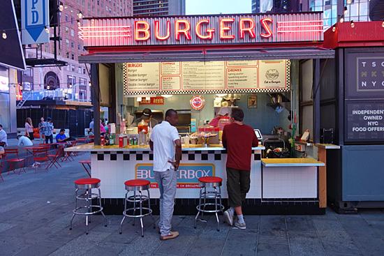 Burger Box At Urbanspace Times Square New York City Nyc Reviews