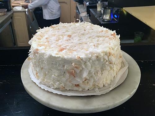 Coconut Cake at Balthazar Bakery
