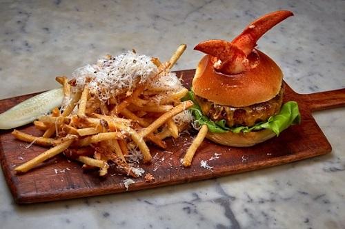 The lobster burger at Bond 45