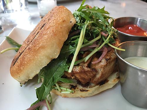 The Tuna Burger at Farmer and the Fish