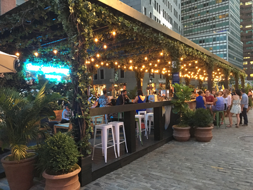 Places to eat and drink outdoors in<br>New York City in 2017