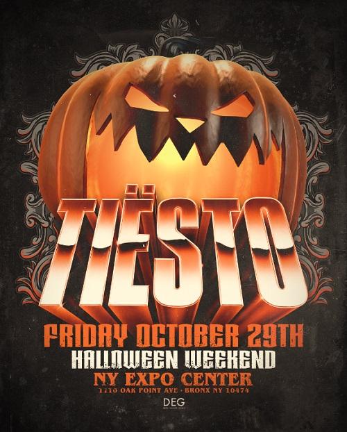 Tiesto returns to New York City<br>for Halloween Weekend